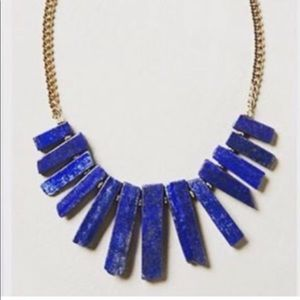 Anthropologie blue stone necklace - Yochi NY